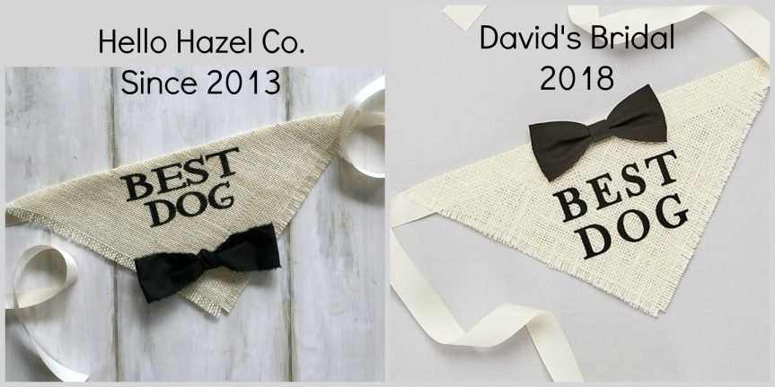*Updated* David's Bridal Copied My Design – Big Business vs Small Business